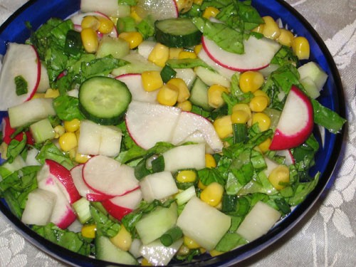Хаару-но-сарада - разноцветный овощной салат - 2