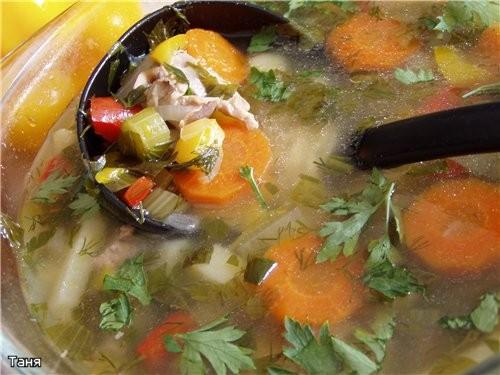Куриный суп с потрохами и овощами Рагу из куриных пупков с овощами Плов с говядиной Баклажанная зак...