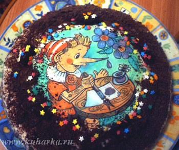 """Вот мой третий в жизни тортик """"Татьяна"""" У меня почему-то три коржа не получилось, скорей всего из-з..."""