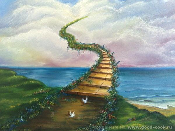 """Лестница в небеса масло"""""""