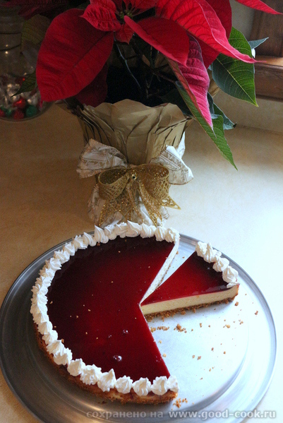 Classic Cheesecake with cherry jelly
