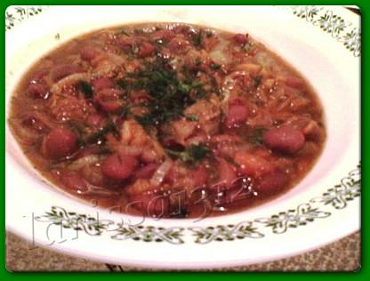 Тушёная фасоль с овощами 400 г сухой фасоли 2 крупные луковицы 1 молковка 200г мякоти тыквы 2 помид... - 2