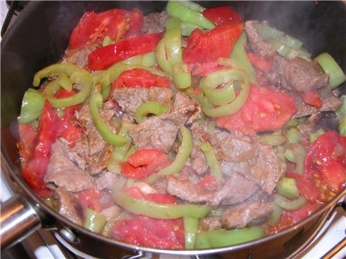 Мясо по крестьянскии