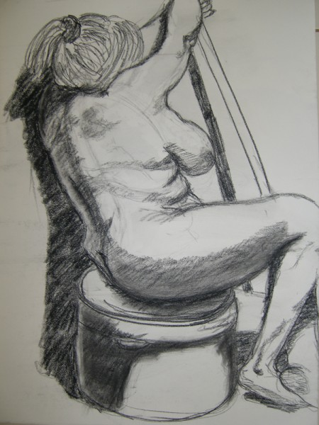 Ща я вам навалю своих рисунков Figure drawing типа надо было вписать в лист, чтобы фигура касалась... - 4