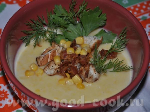 Суп-крем из картофеля и кукурузы