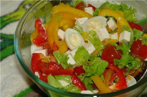 Салат с болгарским перцем и яйцом рецепт с