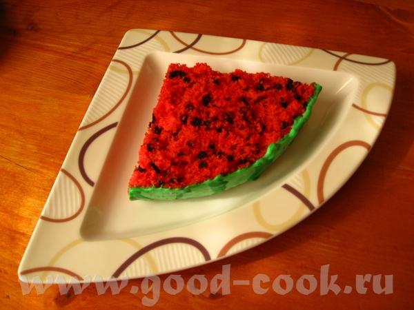 """Торт «Арбуз"""" Этот смешной тортик нашла на сайте компании Wilton (производит всевозможные кондитерск... - 3"""