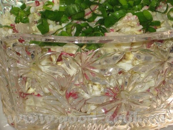 А вот и совсем свежий пятничный ужин, с прошлой недели : Салат из редьки с шампиньонами Салат из ре... - 3