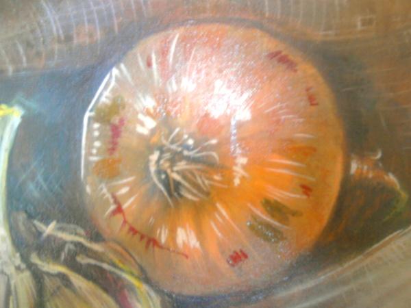 """Процесс рисования мною """"подлюка """" : Предыдущий красноватый вариант вытерла и покрыла сиеной натурал... - 4"""