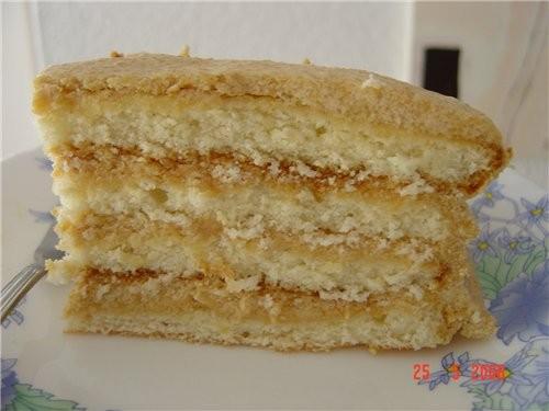 "я несу тоже свой тортик торти ""прага "" для коржей: 3 яйца 1 ст сахара 1/2 банки сгущёнки (не варёно..."