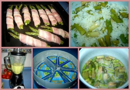 Espбrragos envueltos en bacon con salsa Спаржа, завернутая в бекон под соусом Спаржа - 20 шт - 2
