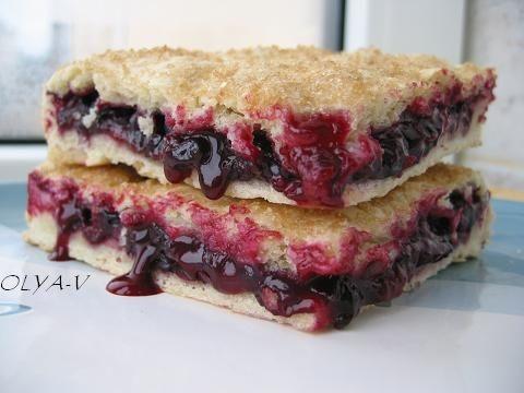 Постный пирог с черной смородиной Начинка может быть любой, с любыми замороженными ягодами или с яб...