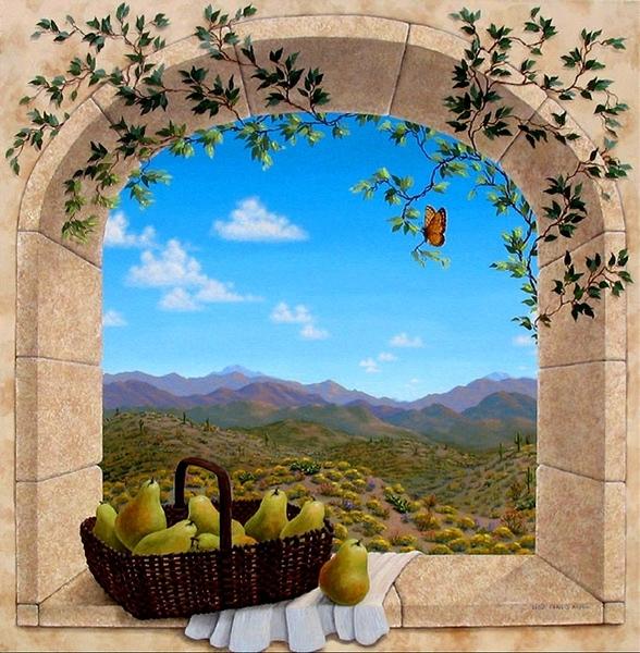 А декупаж где-то тут рядом Dina Farris Appel- окно в лето ----------------------------------------...