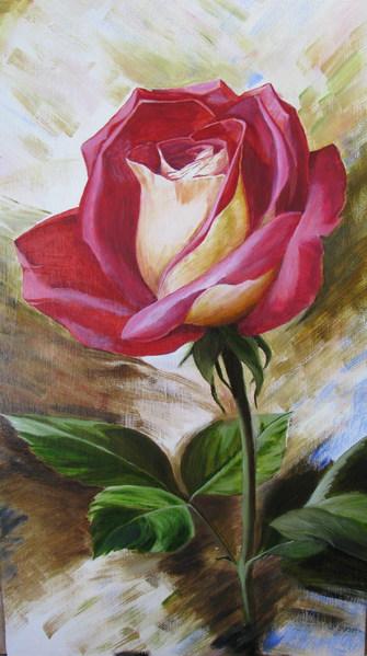 вот ,нарисовала роз у по Левашову масло 40х70