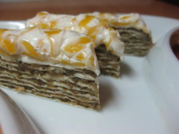 Закусочный торт из лаваша с грибами от Кутовой Ирины Очень вкусный тортик, еле от него оторвалась - 2
