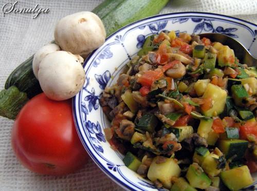 Теплый Салат по Итальянски 1 ст