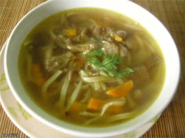 Суп-лапша с вешенками