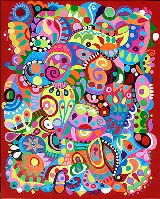 Рисуем абстракцию акрилом Еще одна абстракция Тосканский пейзаж Копия Моне Пошаговая картина и...