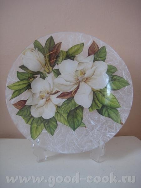 Вот ещё мои новые работы на прозрачных тарелках - 3