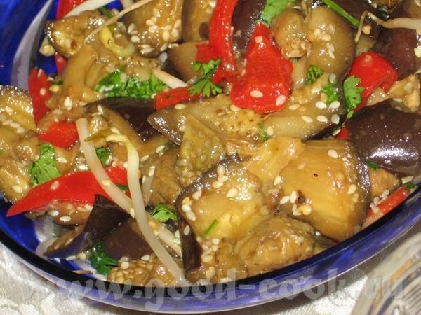 Китайский салат из баклажан 1 кг баклажан (2-3 средних) 3 стол