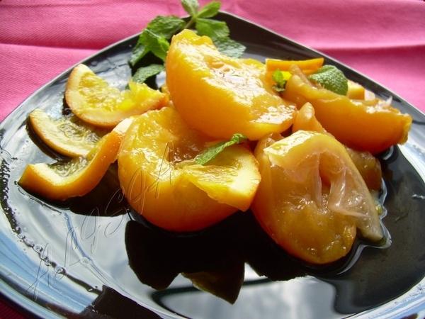 Персики в Апельсиново-Ванильном Сиропе - 2