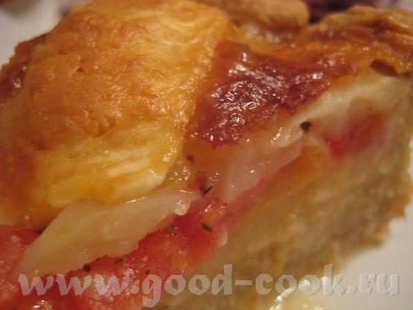 Тарт с картошкой, помидором и двумя сырами Рецепт теста взят в журнале Хлеб и Соль за август 2010 - 8