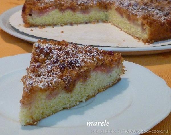 Клубничный пирог cо штройзелем