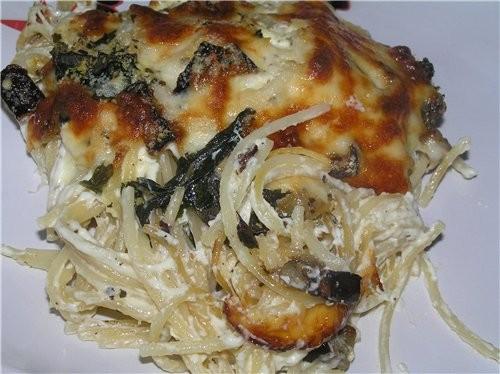 Спагетти с песто из шпината, пармезана и брынзы Канеллони с мясом под овощным соусом Спагетти с бак... - 3