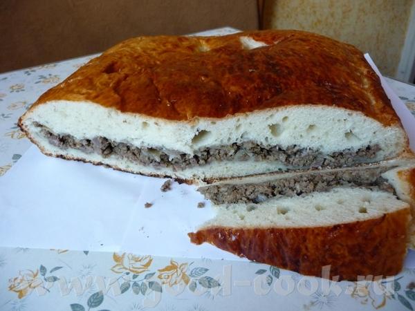 Настя, с меня булки- вчера испекла пирог с мясом
