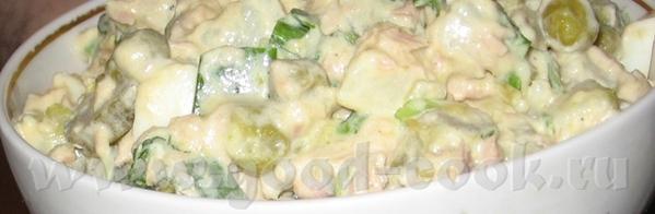 Салат из тунца Оливье - 2