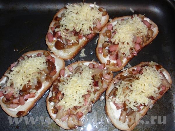 Фотка к Горячим бутербродам с маринованными грибами с опозданием