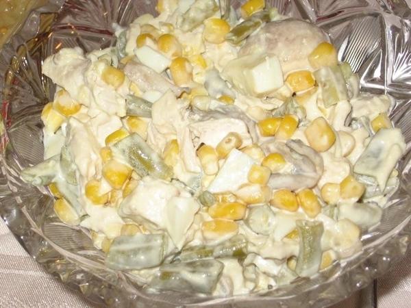 """Салат """"Болгарский"""" с грибами Оливье Салат из зеленой фасоли и куриного мяса Рыбный холодец - 3"""