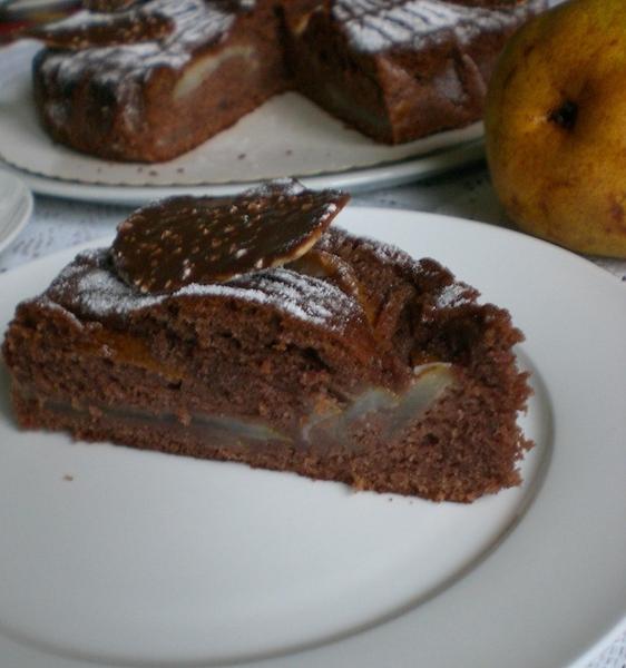 Schoko-Birnen-Biskuit Шоколадно-грушевый бисквит Сочный, вкусный, ароматный и, что немаловажно, быс... - 2