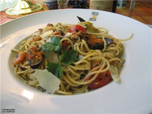 "Сегодня готовил спагетти "" Frutti de Maro """