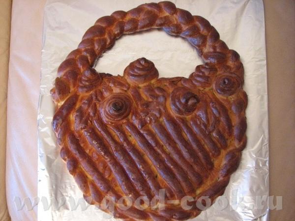 "Пирог ""Корзина с розами"" Такой пирог испекла дочке в садик,на праздник хлеба"