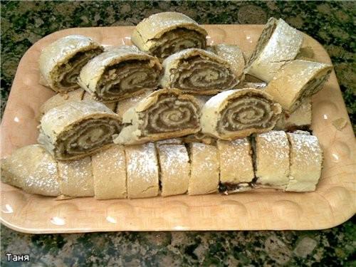 Печенье-роллы с финиковой пастой и орехами - 2
