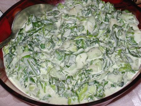 Вторая бабка Салат из хасы (Весенний салат) Оливье - 2