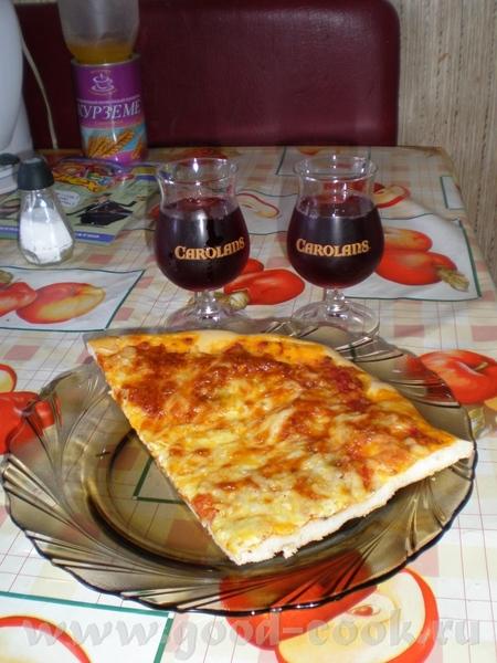 У нас сегодня Пицца 4 сыра Рецепт теста из инструкции к ХП Сухие дрожжи 0,5 ч - 2