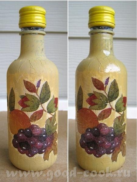 Купила я тут наборчик маленьких бутылочек с вином, чтобы практиковаться в декупаже, жаль только бут... - 2