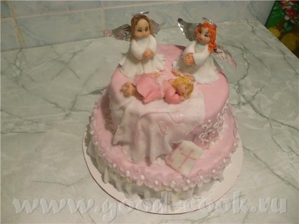Вот первый мой крестильный тортик
