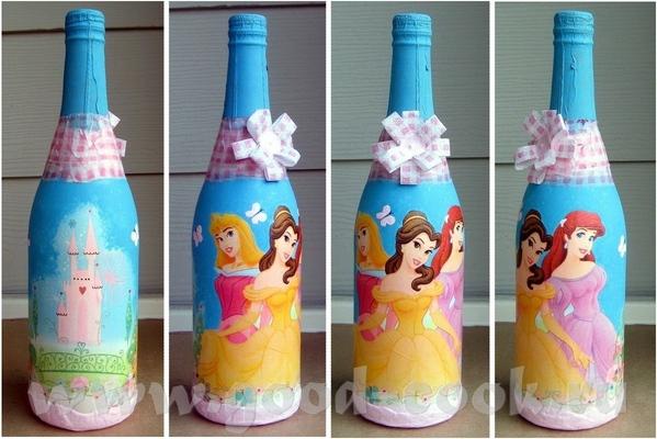 А это эксперимент на бутылке детского шампанского
