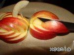"""Сайт Поварёнок Украшение """"Лебедь"""" из яблока От Делала утку в яблоках - 4"""