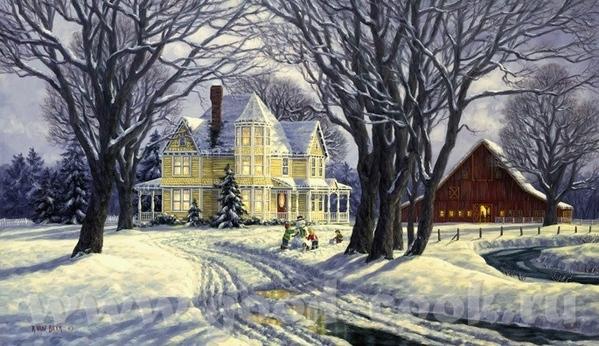 Очень xороший подарок дочкам вы сделали Это художник Джим Уоррен- Jim Warren ======================... - 3
