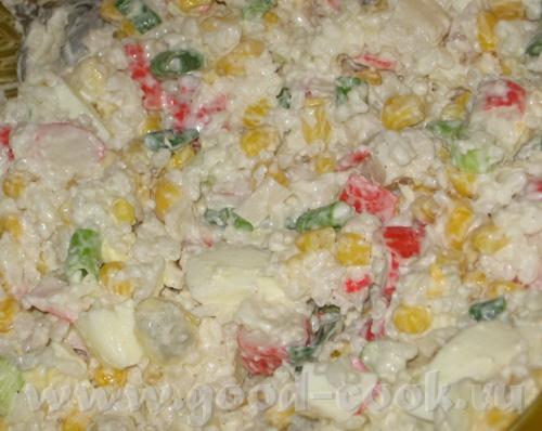 Ужин на неделе, 2 салата с рисом, поэтому идут как самостоятельный, полноценный обед: Салат с крабо... - 2