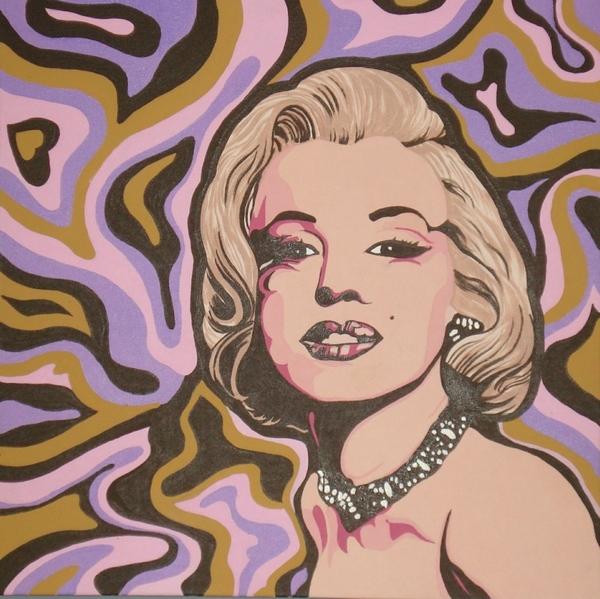 Вот моя поп-арт-Мерилин, на пару к Марлен (если кто помнит)