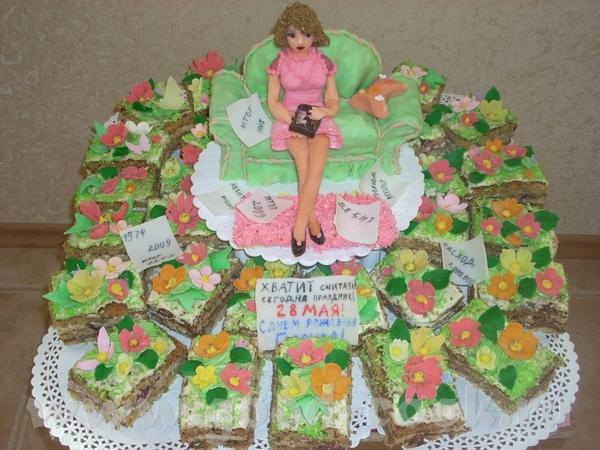 Заказала мне пирожные одна молодая женщина,а я пирожные не делала ни разу, и сказала что она бухгал...