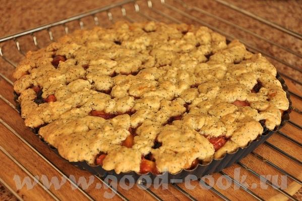 только что испекла Песочный пирог с малиной - блюда от Мимозы