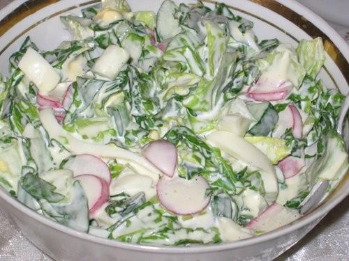 Весенний салат Покупной хуммус Тушенная капуста Рецепты