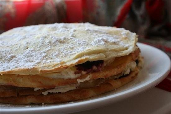 Торт из заварного теста с голубикой 1,5 стакана голубики 150 г муки 1 ч