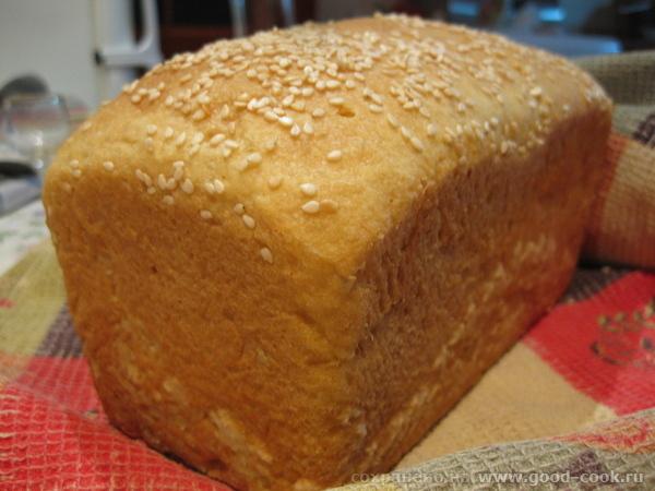 А на завтрак испекла уже полюбившийся нам хлебушек Хлеб на сметане по рецепту В этот раз положила н...